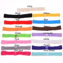 10pcs Lace headbands Hair elastic Band headband hair accessories headband hair band Hair Ribbon Fashion Head wrap(China)