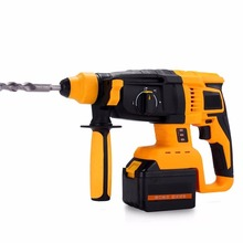 Cordless electric rotatory hammer drill lithium battery brushless motor wall impact drill screwdriver rechargeable power tools(China)