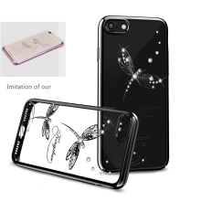 Original Electroplated PC With Crystals from Swarovski Rhinestone Case Cover For Apple iPhone 7 / 7 Plus Black/Rose Gold/Gold