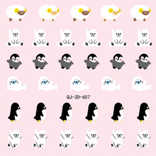 2015 Hot Sale Watch Decals Nail Fashion Real Beauty Manicure Sticker Stick 3 D Cartoon Animal Sheep Penguin Duck 24 Qj 600-623