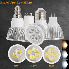 Led Bulb Light MR16 DC 12V Spotlight GU10 E27 E14 3000K 4000K 6500k 9W 12W 15W Replace Halogen Lamp AC 110-240V Energy Saving(China)