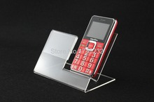 20 Pieces Acrylic Mobile Cell Phone holder Display Stand With Price Tag Label frame furniture accessories