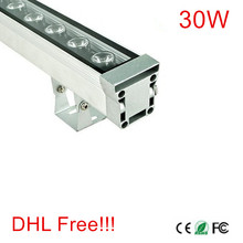 High-power 30W 46*46*1000 IP65 waterproof outdoor AC85-265V/DC12V-24V LED Wall washer lamp Landscape Wash wall lighting