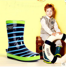 Free shipping Children's shoes Rain Boots wellies cartoon Boys Girls slip Baby shoes overshoes Water shoes Children Rubber Shoes