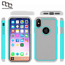 Mundulea 7 plus 2 IN 1 Anti-slip Wave point Patter Coque Capa Active Silicone+PC Covers for iphone X Cases Shockproof Aiti-Slip