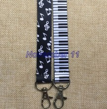 20Pcs mixed popular music piano mobile Phone lanyard Key chain Strap Charm Gift Free shipping EE45