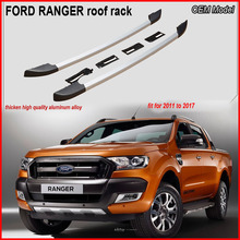 OEM style roof rack rail cross bar for Ford Ranger 2011 to 2017,best aluminum alloy,with screws, not glue tape, promotion price
