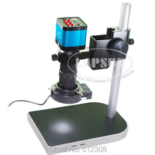 14MP 1080P CMOS HDMI Microscope Camera For Industry Lab PCB USB Output Video Recorder + C-mount Lens + LED Ring Light + Stand
