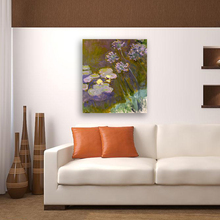 Frameless Monet Oil Painting Modern Oil Paintings On Canvas For Living Room Home Decor Wall Art Picture(China)