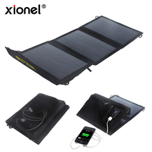 Xionel 10W Foldable Portable Solar Charger Bag Solar Panel with Usb Port Solar Battery for Iphone Samsung Xiaomi Mobile phone(China)
