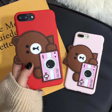 Buy iphone 7 Cartoon 3D Bear Silicone Case, Cute Bear Kitty Camera Soft Back Case iphone 8 8plus 7plus 6 6s 6splus fundas for $6.99 in AliExpress store