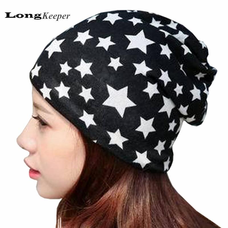 LongKeeper Fashion Winter Hats Pattern Star Leisure Beanies for Men Women Unisex Knitted Winter Hats 2016 New SkulliesÎäåæäà è àêñåññóàðû<br><br><br>Aliexpress
