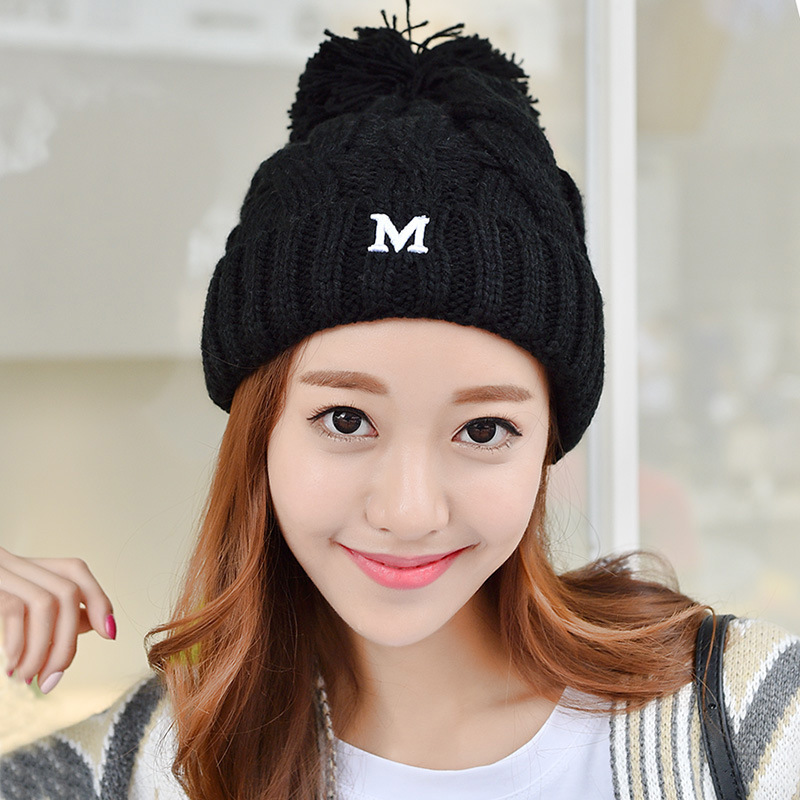 Autumn and winter warm wool hat Women leisure wild knit hat Tidal care ear fur ball knit hatОдежда и ак�е��уары<br><br><br>Aliexpress