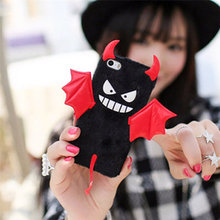 3D Devil Phone case Plush Hard Back Cover Case For Apple  iphone 6 6S 7 8 Plus Halloween Fashion Bat Wing Phone Cases