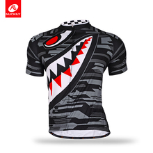 Nuckily summer customized polyester bike wear short sleeve sharp tooth design mountain bicycle jersey for men MA001(China)