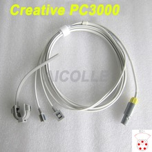 Compatible Creative PC3000 patient monitor lemo 5pin two slot  multi site y model spo2 sensor pulse probe