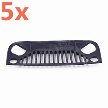 5Pieces RC Car Xtra Speed Nylon Angry Eyes Grill Body For 1/10 Scale Model Jeep Wrangler Body #XS-59758 SCX10 JEEP Climbing Cars(China)
