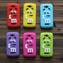 For Alcatel One Touch Pop C7 M&M's chocolate candy cartoon Soft Silicon Cover Phone Skin Case Shell For Alcatel One Touch Pop C9(China)