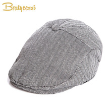 Fashion Baby Hat Handsome Cotton Linen Kids Boy Cap Beret Enfant Accessories for 1-2 Years(China)