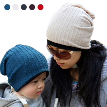Autumn Winter warm Double layer design beanie baby hat kids bonnet Twist lines Skullies caps headwear for 1-3 year old boy girls