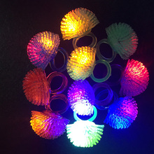 2017 Limited 5pcs/lot Free Shipping Led Finger Ring Flashing Novelty Party Glowing Dark Light Up Toys Mix Colors Soft Lights(China)