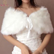 Fur Coat Wedding Faux Fur Bridal Bolero Shrug with Ribbon Custom Made Bridal Shawls Bridesmaid Wedding Wrap