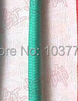 turquoise color 50meters textile fabric cable in one roll round 2-core fabric wire 2*0.75mm blue and brown color core cable
