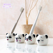 Panda Ceramic Toothbrush Holder Creative Bathroom Cute Toothbrush Cylinders(China)
