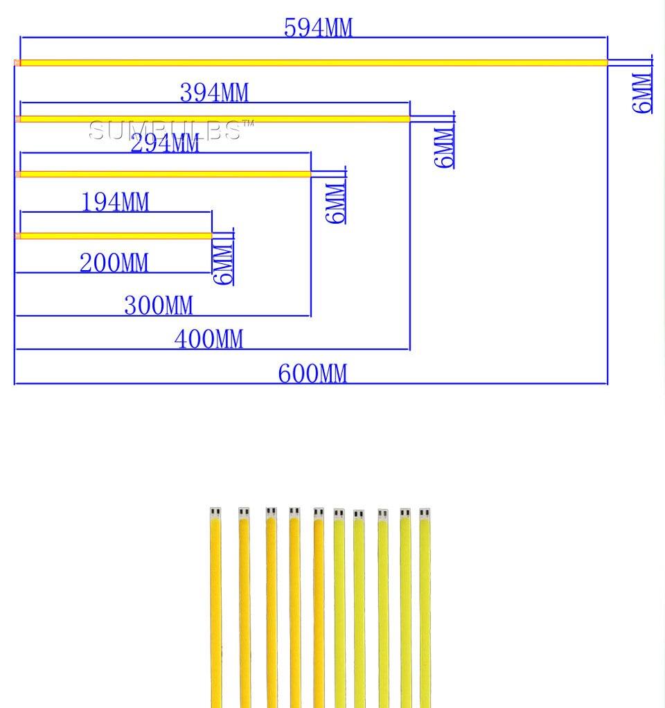 dc 12v 10w 20w 60cm 40cm 30cm 20cm cob led strip car light (1)