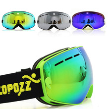 COPOZZ Brand Kids Ski Goggle Double UV400 Anti-fog Glasses Acetate Skiing Girls Boys Snowboard Goggles GOG-243 8.2 15.5cm