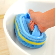Kitchen Cleaning Bathroom Toilet Kitchen Glass Wall Cleaning Bath Brush Plastic Handle Sponge Bath Bottom(China)
