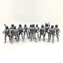 [12pcs/lot]Free shipping Action Figures 1:27 the 3rd generation Steel Ride Corps nude color army soldiers set New Boxed(China)