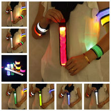 LED Flashing Wrist belt Sports Running Safety Reflective Strap Arm Band Armband Night Run Special  High Quality-K624