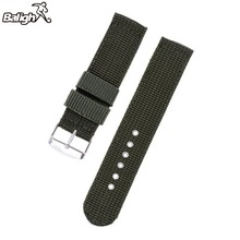 2750mxgq Military Army Nylon Fabric Canva Wrist Watch Band Strap 18/20/22/24mm 4Color(China)