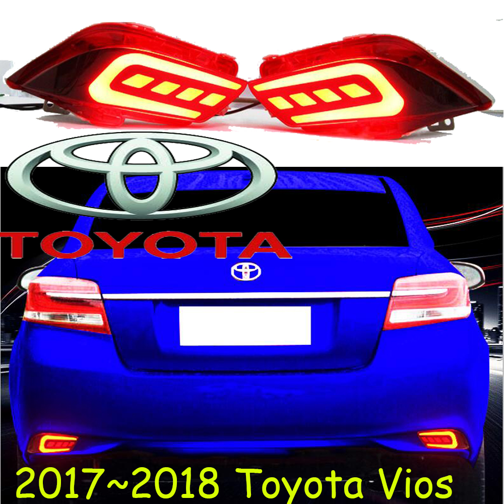 Vios rear light,chrome,Free ship,vios bumper light;2017~2018,LED,Vios taillight,4Runner,avalon,camry,Hiace,tundra,sienna,yaris L<br>