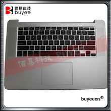 "2015 A1398 Original New For Macbook Pro Retina 15"" Upper Top Case Cover US Layout Keyboard Backlight Trackpad Touchpad Tested(China)"