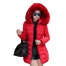 2017 New Winter Women Jacket Long Padded Cotton Coat Super Large Collar Parka Coat Plus Size Thick Nagymaros Collar Jackets F876
