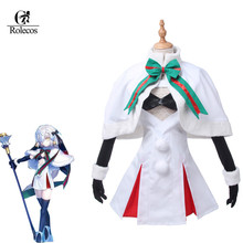 Rolecos Game Fate Grand Order Costume Anime Alter.Santa.Lily Cosplay Costumes Alter New Fashion Cloak Set