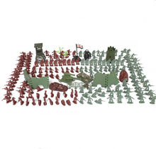 238Pcs/set 4cm 4cm lifelike mini military equipment plastic soldier model toys for boy best brinquedos gift for kids