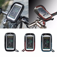 6 inch Bike Bicycle Waterproof Cell Phone Bag Holder Motorcycle Mount for iphone 7 6S Samsung galaxy S8 S7 LG G6 V20 Mate 9(China)