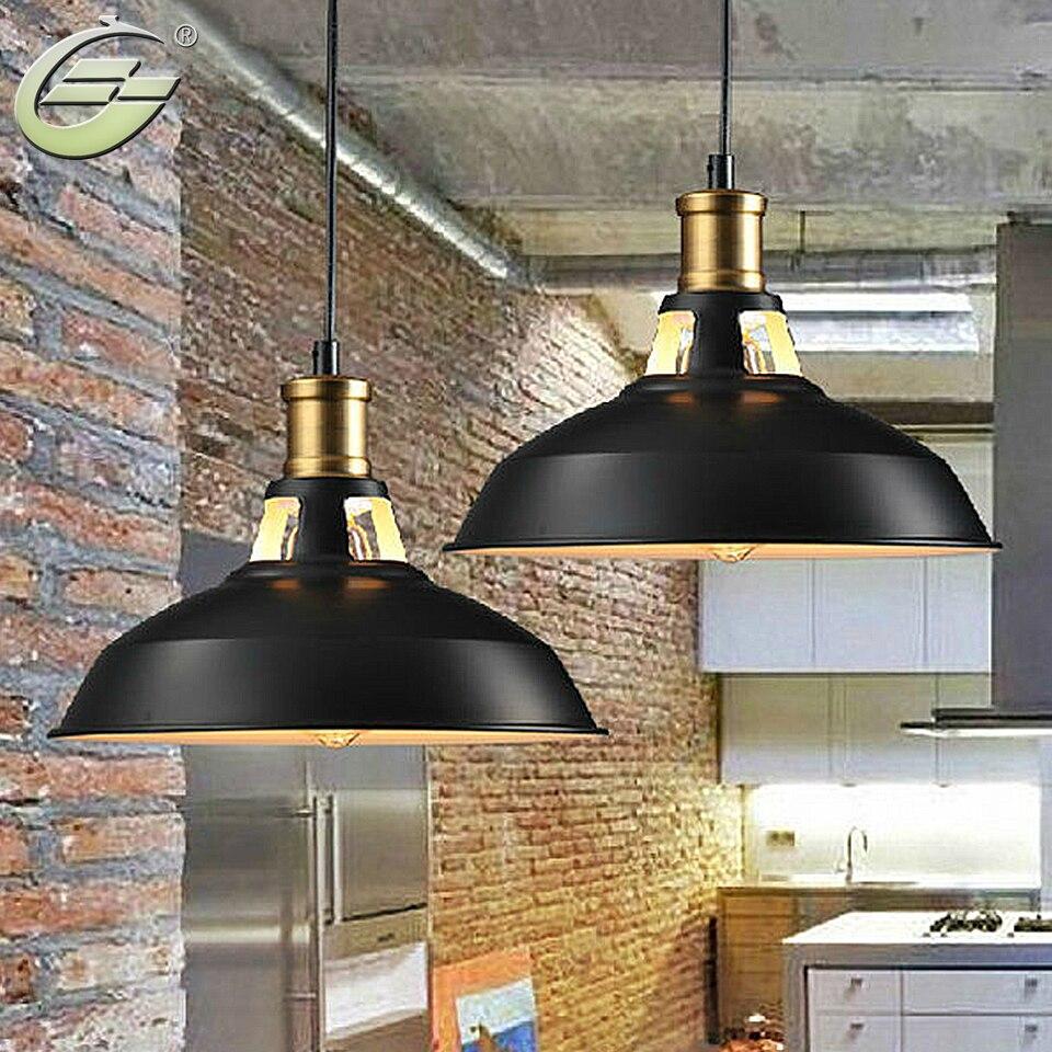 1-Light Pendant, Retro Industrial Pendant Lighting, Black Paint, Metal Aluminum Shade, 10.63 diameter<br>