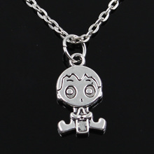 new fashion baby boy Pendants round cross chain short long Mens Womens silver necklace Jewelry Gift(China)