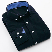 Camisa masculina Spring New Solid Men Shirts Corduroy Shirt Fashion Men Slim Long Sleeve Warm shirts