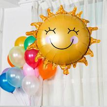 Aluminum sunflowers balloons decorated children's birthday party balloon toy 62x62Cm wholesale
