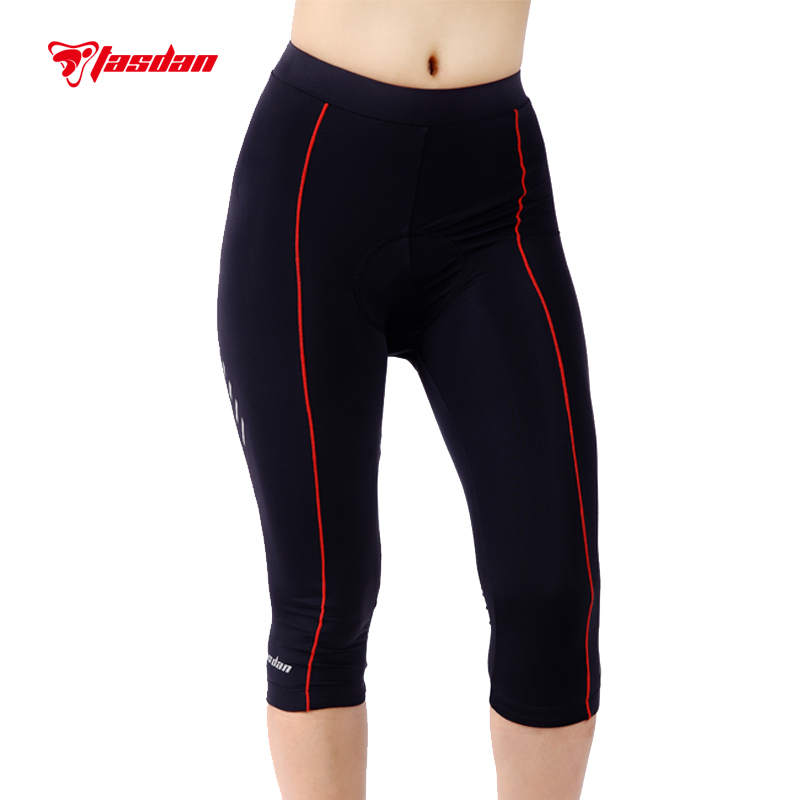 Tasdan Cycling Wear Cycling Clothes Sportswear Custom Womens Cycling Tights 3/4 Pants Bicycle Gel 3D Coolmax Padded for Women<br>