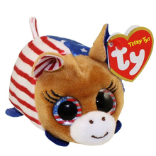 "Ty Teeny Tys 4"" 10cm VOTE DONKEY DEMOCRAT Plush Stuffed Animal Collectible Soft Big Eyes Doll Toy"