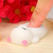 Novelty Funny Toys Baby Cute Mochi Squishy Cat Squeeze Healing Fun Kids Kawaii Toy Stress Reliever Decor jouets anti-stress