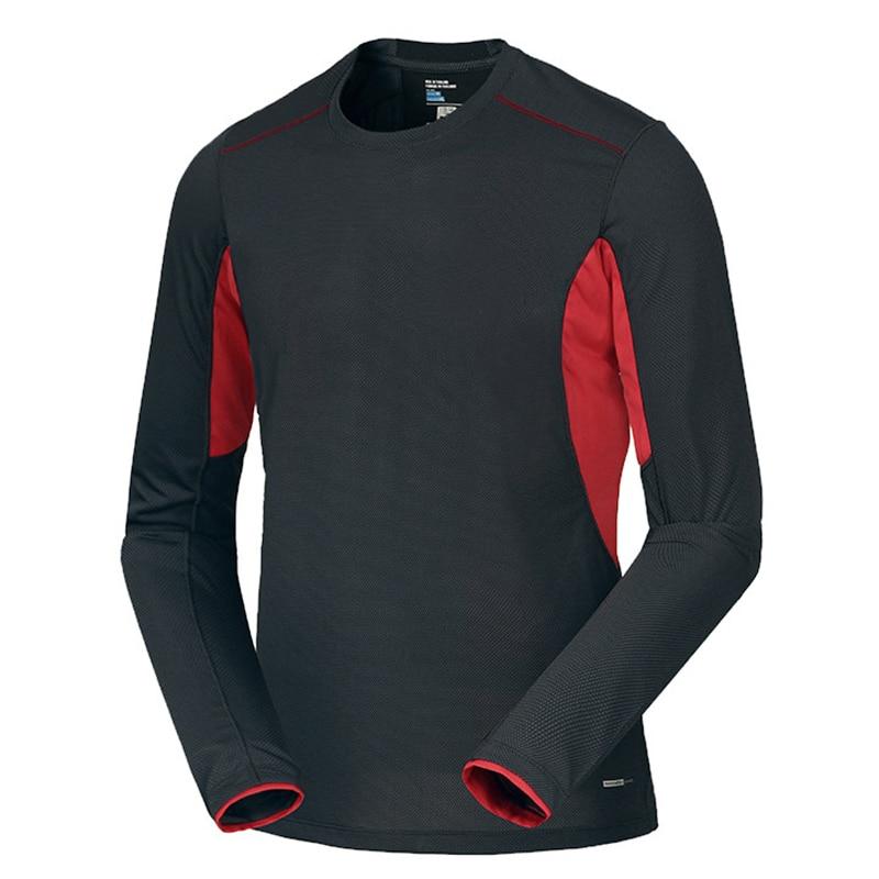Spring Men Elastic Quick Dry T-shirt Male Outdoor Tees Long Sleeve Shirt Sport Breathable Soft Fabric Trekking Hiking Shirt2