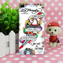 B1091 Ed Hardy Fashion Transparent Hard Thin Case Skin Cover For Huawei P 6 7 8 9 Lite Plus Honor 6 7 4C 4X G7(China)