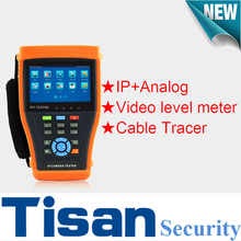 4.3 inch touch screen CVBS Analog 5MP IP Camera cctv tester Monitor with Video level meter and Cable Tracer test(China)